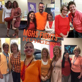 MGHS  fights hunger on Orange Day