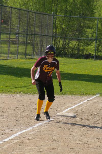 Anna leading off 3rd base.